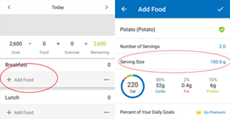 tracking macros with myfitnesspal