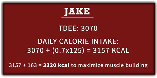 Jake calorie surplus